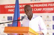 Le Président Jovenel Moïse a posé la première pierre de la construction du micro parc industriel de Moreau/Camp-Perrin